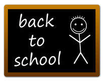 Back to school. School blackboard with happy kid Royalty Free Stock Photos