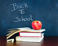 Back to School. Written on a chalkboard Stock Photo