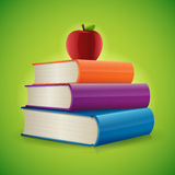 Back to School. Books background vector illustration