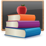Back to School. Books background stock illustration