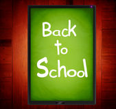 Back To School. On tablet Stock Image
