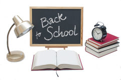 Back to School. Desktop items on white background Stock Image