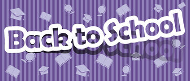 Back to School. Vector back to school; realistic cut, takes the background color Royalty Free Stock Image