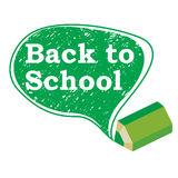 Back to school. Bubble background Stock Photography
