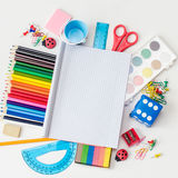 Back to school. Set of School Tools and Supplies Stock Photos