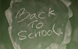 Back to school. Written on a chalk board Royalty Free Stock Photo