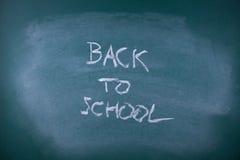 Back to school. Writing  on chalkboard (blackboard Royalty Free Stock Photos