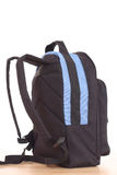 Back to school. Blue backpack isolated on white - back to school Royalty Free Stock Photography