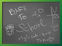 Back to school. Green school board with inscription Back to school Stock Photos