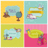 Back to School. Card Collection - Back to School - for design and scrapbook in Stock Images