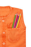 Back to school. Color pencil says back to school Stock Photo