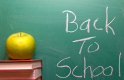 Back to School. Written on a chalkboard Royalty Free Stock Photos