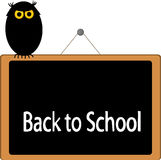 Back to School. Written on blackboard illustration Royalty Free Stock Image