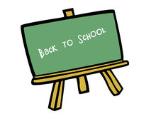 Back to school. Vector based illustration of a green chalk board stock illustration