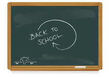 Back to school. Realistic vector illustration of a classic blackboard Stock Photography