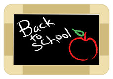 Back to school. Illustration of chalkboard isolated background Stock Photography