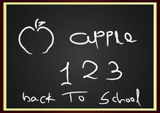 Back to school. Illustrated artistic go to school Royalty Free Stock Photos