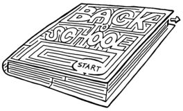 Back to School. A Back to School maze Royalty Free Stock Photo