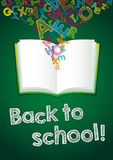 Back to School ABC book card Stock Photography