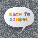 Back to school abstract background. Royalty Free Stock Image