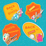 Back to school abstract background of flat icons Royalty Free Stock Photo