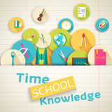 Back to school abstract background of flat icons Stock Photo