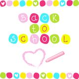 Back to school abstract inscription Stock Photo