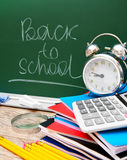 Back to school. School accessories. Back to school Royalty Free Stock Photos