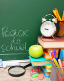 Back to school. School accessories. Back to school Royalty Free Stock Images