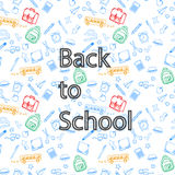 Back to school and accessories Stock Images