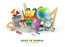 Back To School Accessories Composition Poster Stock Photos