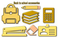 Back to school accessories stock illustration
