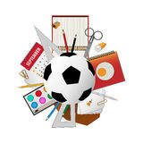 Back to school activities background poster. Have to back to school background for business Stock Photos