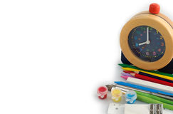 Back to School with Alarm Clock - Background Royalty Free Stock Image