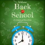Back to school with alarm clock. EPS 10 Stock Images