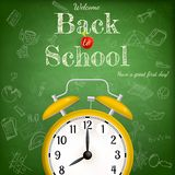 Back to school with alarm clock. EPS 10 Royalty Free Stock Image