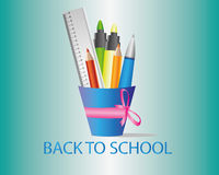 Back to school. All you need to go to school Stock Image