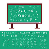 Back to School Alphabet Royalty Free Stock Images
