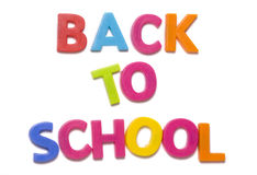 Back to school alphabet letters Stock Photography