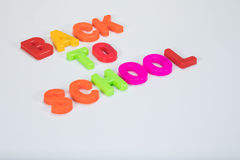 Back to school alphabet letters and copy space Royalty Free Stock Photo