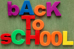 Back to school alphabet letters Stock Photos