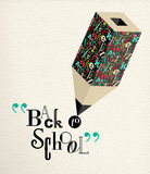 Back to school alphabet pencil concept education Stock Photography