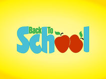 Back to school apple sign. Back to school illustration with bright, primary colors & apples royalty free illustration