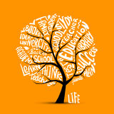 Back to school, art tree for your design Royalty Free Stock Photos