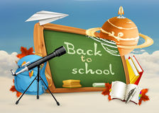 Back to school and astronomy lessons Stock Photography