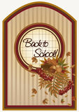 Back to school autumn card with a leafs, vector Stock Image