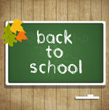 Back to school autumn card with leaves Stock Image