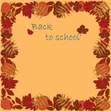 Back to school autumn leaves Royalty Free Stock Photos