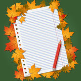 Back to school autumn vector background Stock Photo