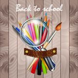 Back to school. Background with school supplies Stock Photography
